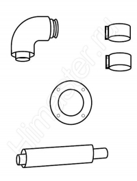 комплект для подключения концентрической системы труб vaillant 60/100 к дымоходу 303810  Vaillant
