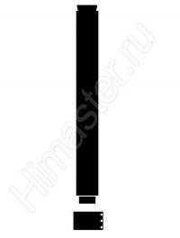 удлинительная труба vaillant 60/100 мм. длиной 1 м 3038012 Vaillant