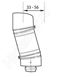 обходная концентрическая телескопическая вставка vaillant 60/100 303819  Vaillant