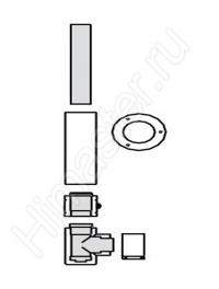 набор для подключения системы 80/125 рр к дымоходу las 303208 Vaillant