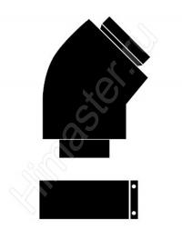 отвод 45° (2 шт.) для труб vaillant 80/125 303611 Vaillant