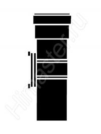 прямой участок дымохода из жёстких труб vaillant dn80 pp с ревизионным отверстием длиной 0,25 м 303256  Vaillant