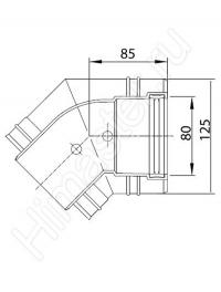 отвод vaillant на 30°, 80/125 мм pp, коаксиальный, для прокладки на фасаде. кол-во 2 шт. материал  легированная сталь. 0020042758  Vaillant