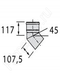 отвод  vaillant dn 130 pp 15° (2 шт.) 0020042768   Vaillant