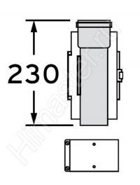 участок трубы с ревизией vaillant 60/100 pp 303918  Vaillant