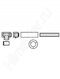 набор для подключения системы vaillant 60/100 рр к дымоходу las 303923  Vaillant