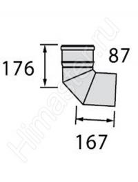 отвод vaillant  dn 130 pp 87° 0020042765  Vaillant