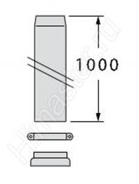 удлинитель дымохода для вертикального прохода через крышу vaillant 60/100 рр 303003  Vaillant