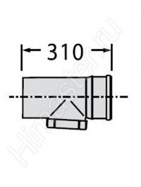 труба  vaillant с ревизией dn 130 pp 0020042764  Vaillant