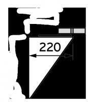 Наружная выносная консоль Vaillant , возможность настройки от 50 до 300 мм.