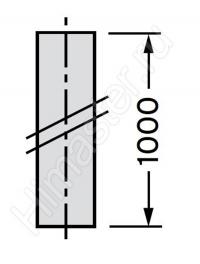 Удлинение трубы дымохода Vaillnt Dn 80, 1 м, нержавеющая сталь