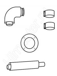 Комплект для подключения концентрической системы труб Vaillant 60/100 к дымоходу