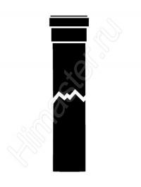 Прямой участок дымохода из жёстких труб Vaillant Dn 80 PP длиной 1,0 м