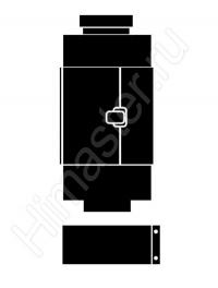 Участок трубы Vaillant  80/125 мм PP ревизионным отверстием длиной 0,25 м