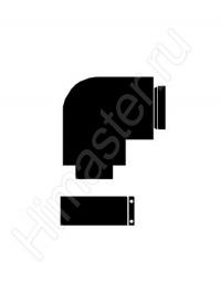 Отвод 87° для труб 80/125 мм PP