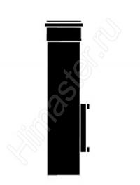 Удлинительная труба Dn 80, длиной 0.35 м с ревизией