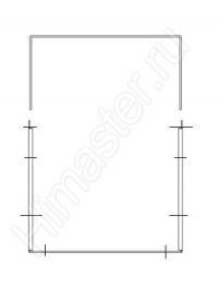 Удлинение крепежа наружной консоли от 90 до 280 мм. Материал легированная сталь.