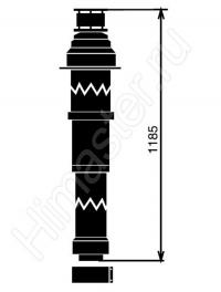 Вертикальный проход через крышу Vaillant  80/125. Цвет черный