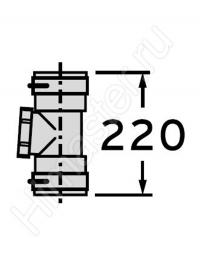 Набор Vaillant 2: Элемент гибкого дымохода Dn 80 мм с ревизионным отверстием