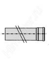 Удлинительная труба  Vaillant 1.0 м Dn 130 PP