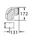 Отвод 87° Vaillant 60/100 PP, с ревизией